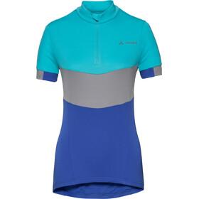 VAUDE Advanced III Naiset Pyöräilypaita lyhythihainen , sininen/turkoosi